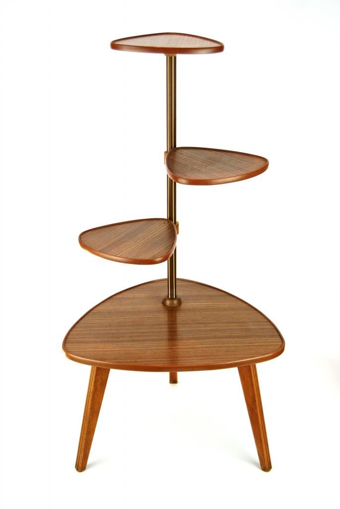Vintage 1960s Plant Stand Danish Modern Mid Century Display Mid