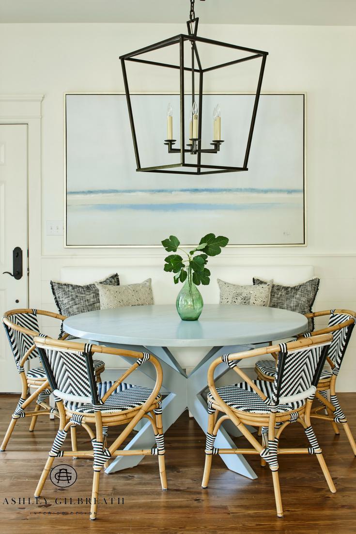 Rosemary Beach Florida Flat By Ashley Gilbreath Interior Design Instagram Ashleygilbreathinteriord French Bistro Chairs Bistro Chairs Kitchen Bistro Chairs