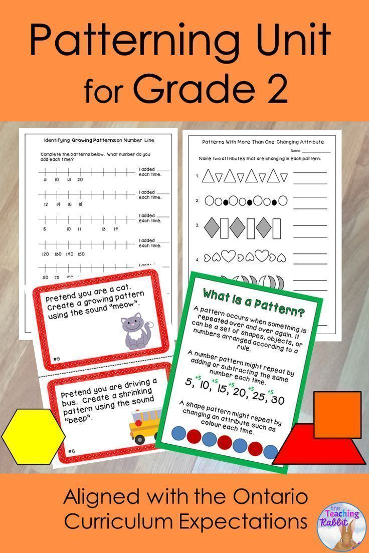 Patterning Unit for Grade 2 (Ontario Curriculum) | Grade 2