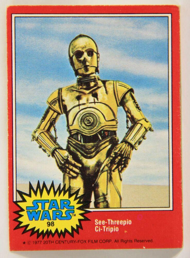 L002018 star wars 1977 topps trading card 98 c3po