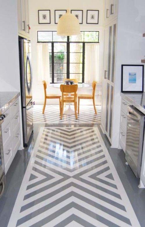 painted floor Bachelorette Pad In Dallas Pinterest Grau - landhaus fliesen küche