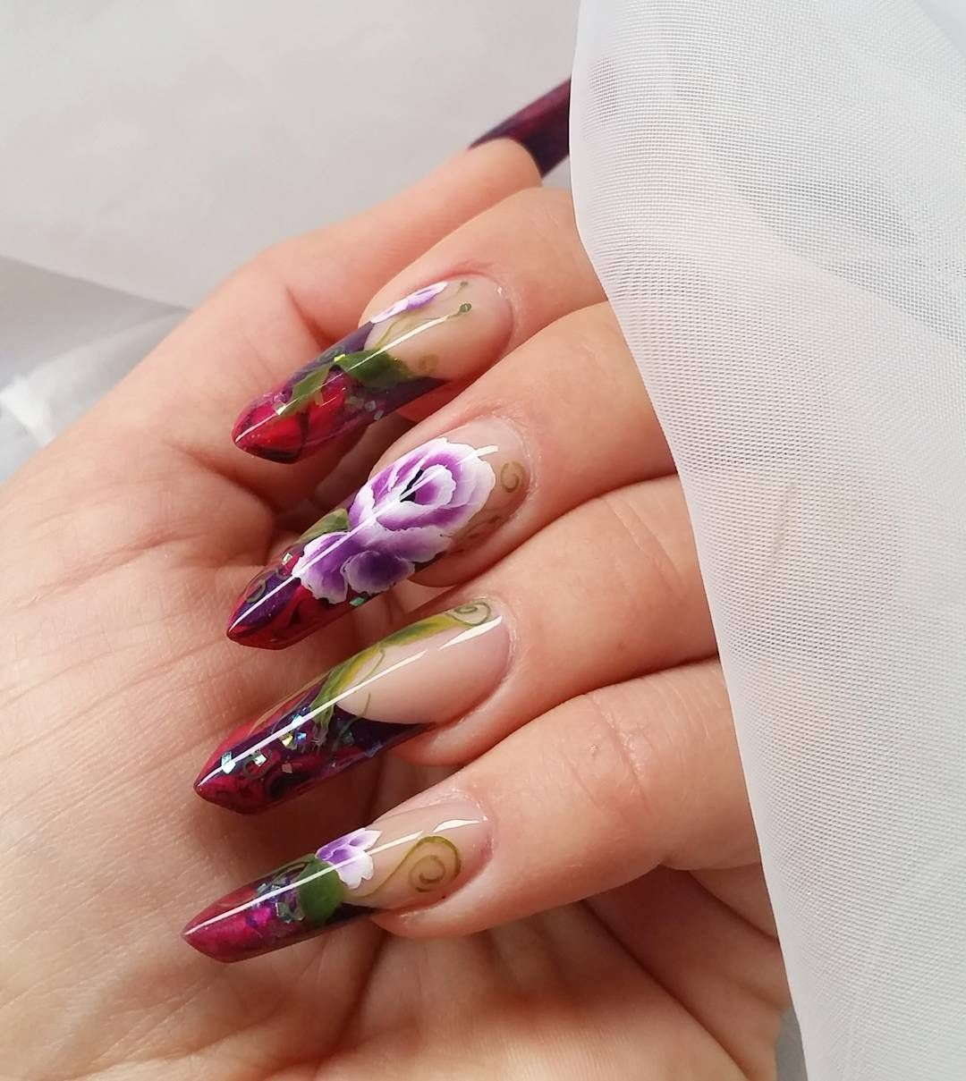 Create swoon-worthy nail art with this long, pointed edge nail shape ...
