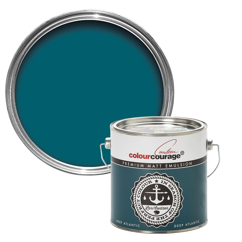 colourcourage Deep Atlantic Matt Emulsion paint 2.5 L | Sitting ...