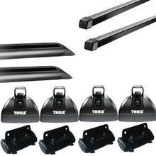 Thule Podium Square Bar Roof Rack w/ Tracks for Camper Shell Applications