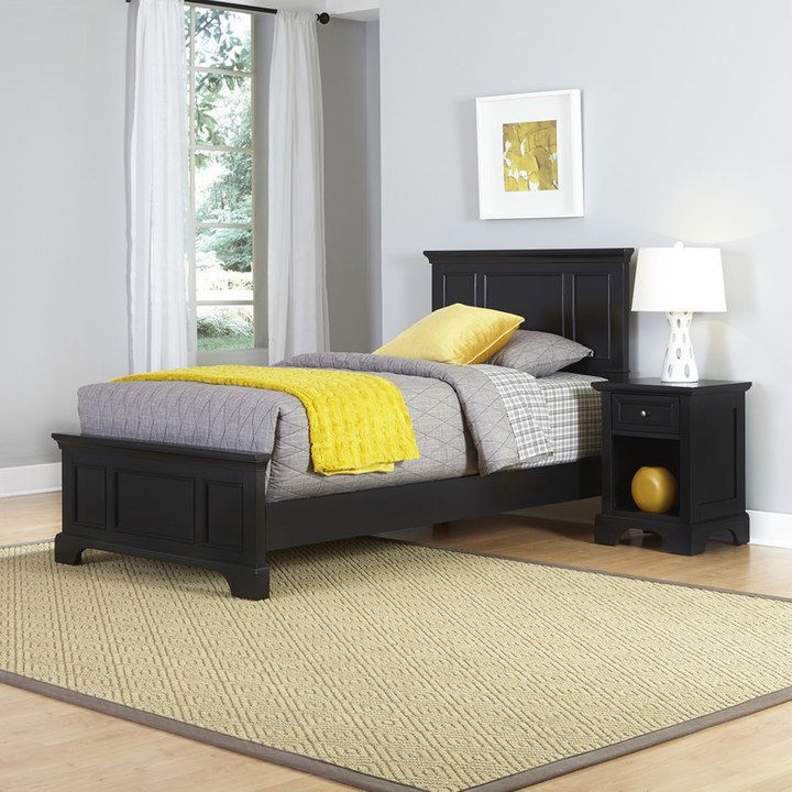 Home Styles 2 Piece Naples Twin Bed And Night Stand Set
