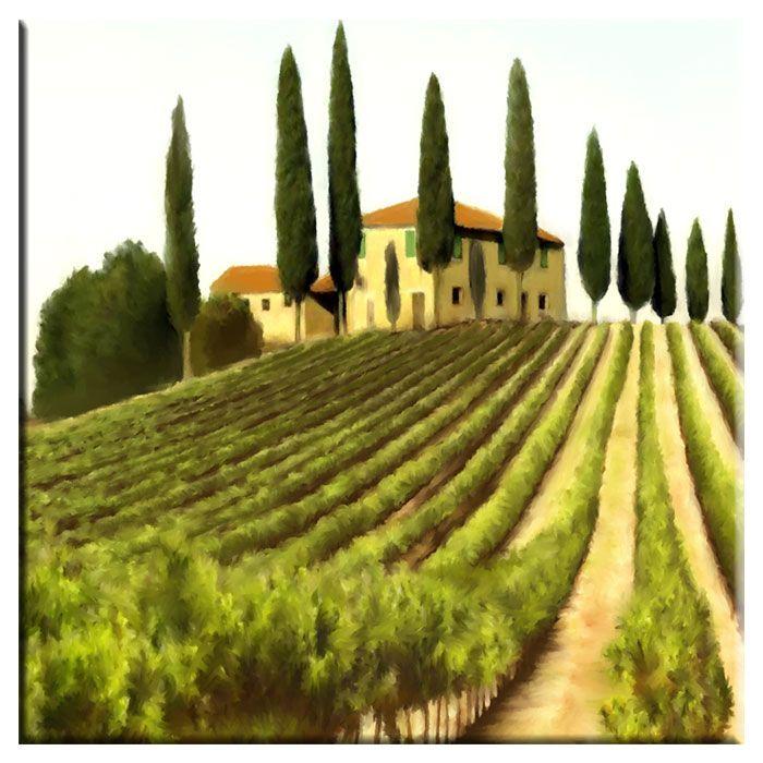 Vineyard Wall Art | Tuscany | Pinterest | Paintings