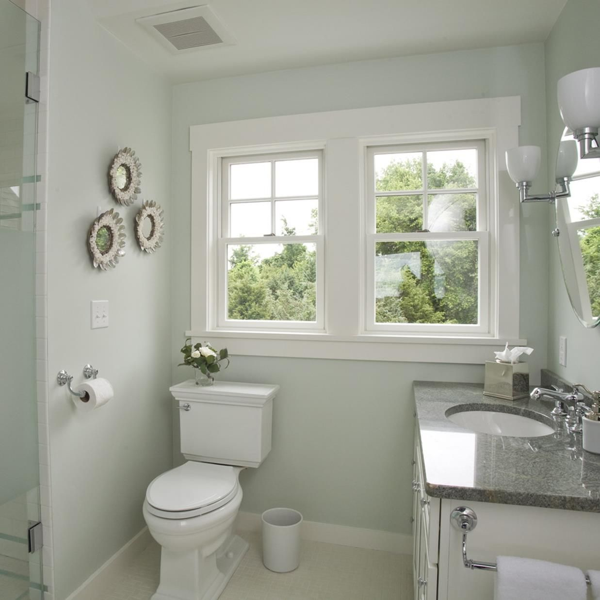 42 Best Paint Colors For Small Bathrooms Your Bathroom Look Clean Small Bathroom Colors Bathroom Colors Bathroom Paint Colors