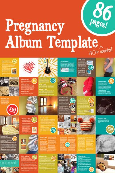 pregnancy album template this indesign template features a fully rh pinterest com Addiction Recovery Guide Toddler Nutrition Guide