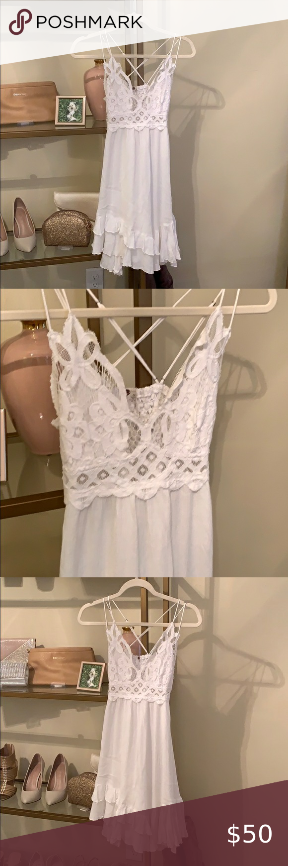 Free People White Slip Dress White Slip Dress Slip Dress Dresses [ 1740 x 580 Pixel ]