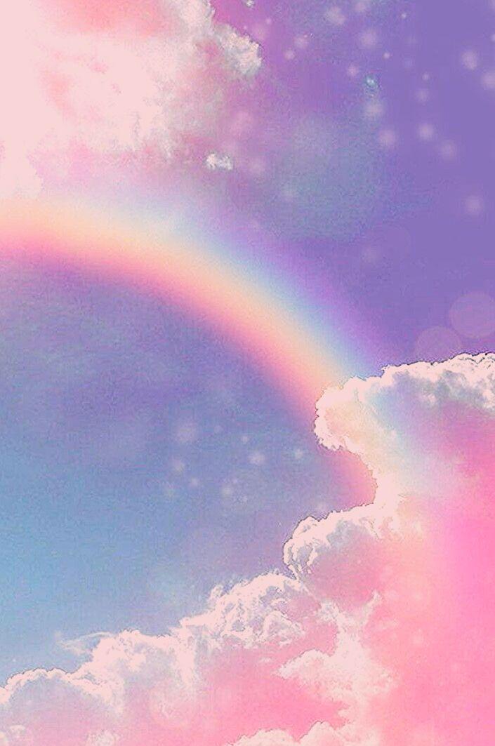 gambar aesthetic rainbow