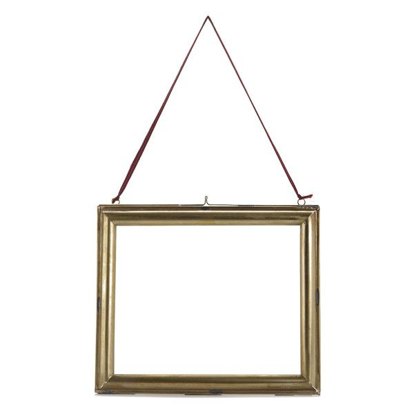Nkuku Kariba Antique Brass Frame Antique Brass Landscape 8 X 10 37 Liked On Polyvore Featu Brass Photo Frame Brass Picture Frames Antique Brass Frame