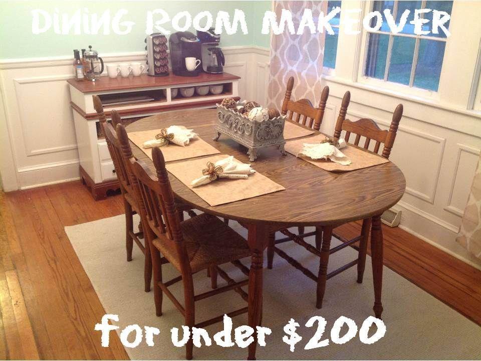 dining room makeover for under 200  dining room makeover
