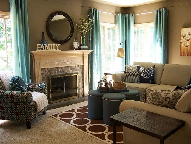 Awesome Teal And Taupe Living Room Contemporary Living Room Brown And Teal Living  Room Ideas. Living