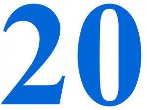 Numero Veinte 20 Twenty En 2020 Numero Para Imprimir