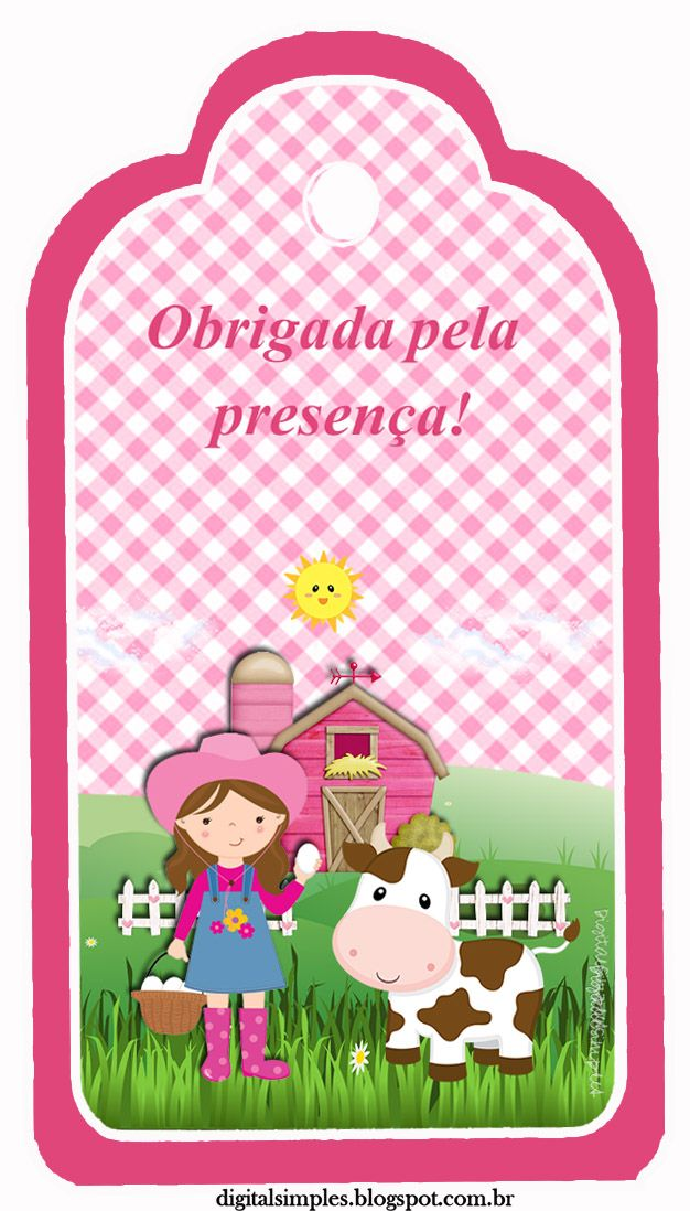 Famosos Kit Aniversário Fazendinha para Menina Rosa, gratuito para  CA64