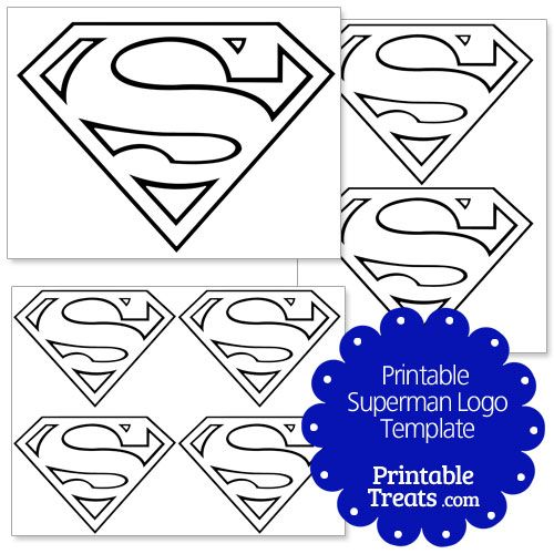 Printable Superman Logo Template From PrintableTreats