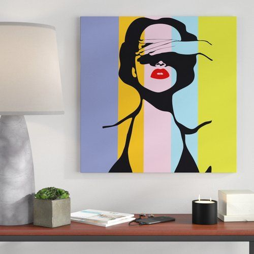 Photo of Canvas Art Retro Woman Pop Art Style East Urban Home Size: 40 cm H x 40 cm W x 2 cm D