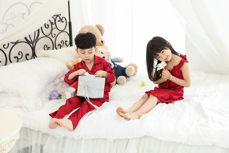 Pin On Silk Pajamas For Children
