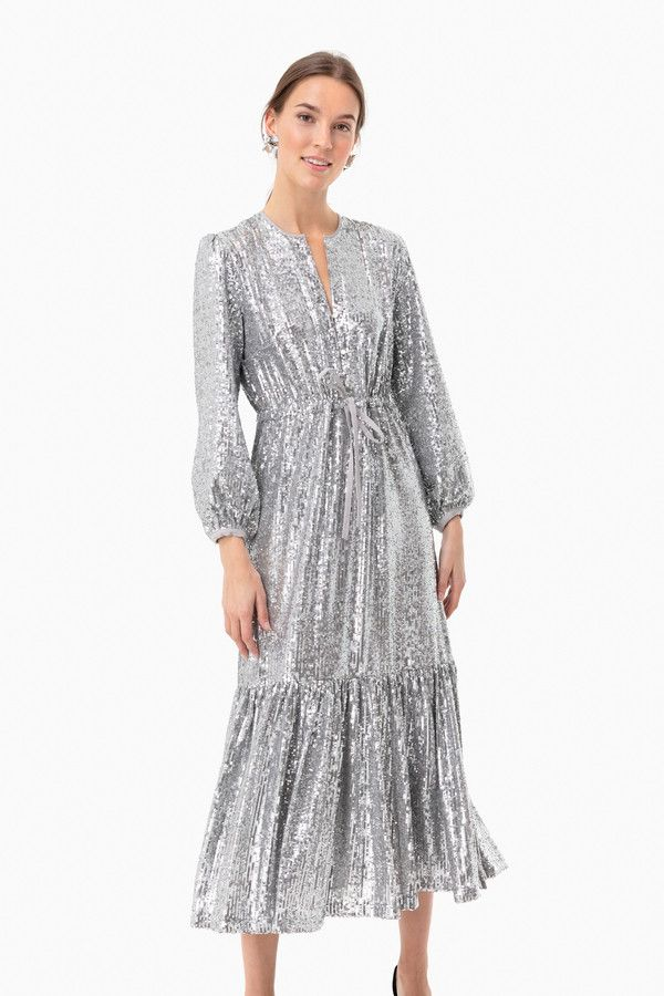 Silver Sequin Frances Dress #emersonfry
