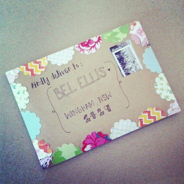 Pretty snail mail envelope