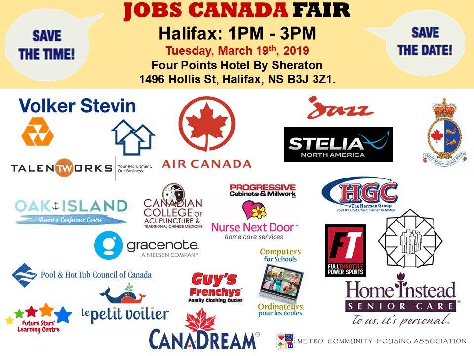 List of hiring companies for halifax job fair march 19th