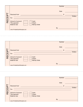 Pink Cash Receipts Invoice Template Word Templates Printable Free Receipt Template