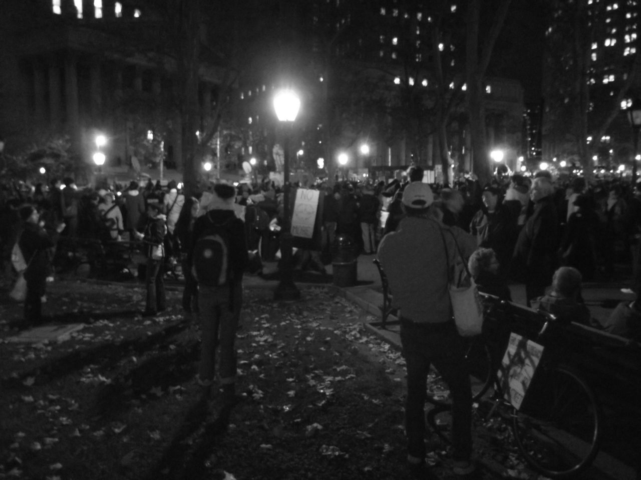 Occupy Wall Street. These photos were taken at the large Foley Square rally on November 17th, which was declared a Day of Action by the Occupy movement. Police estimates put the turnout at around 32,500 people in New York. The shots give an impression of that kind of incredible size. By Tumblr user danielmcbatman. Photo 2 of 3. Posted 14 February 2012. Full photoset: http://bit.ly/IH6QQK