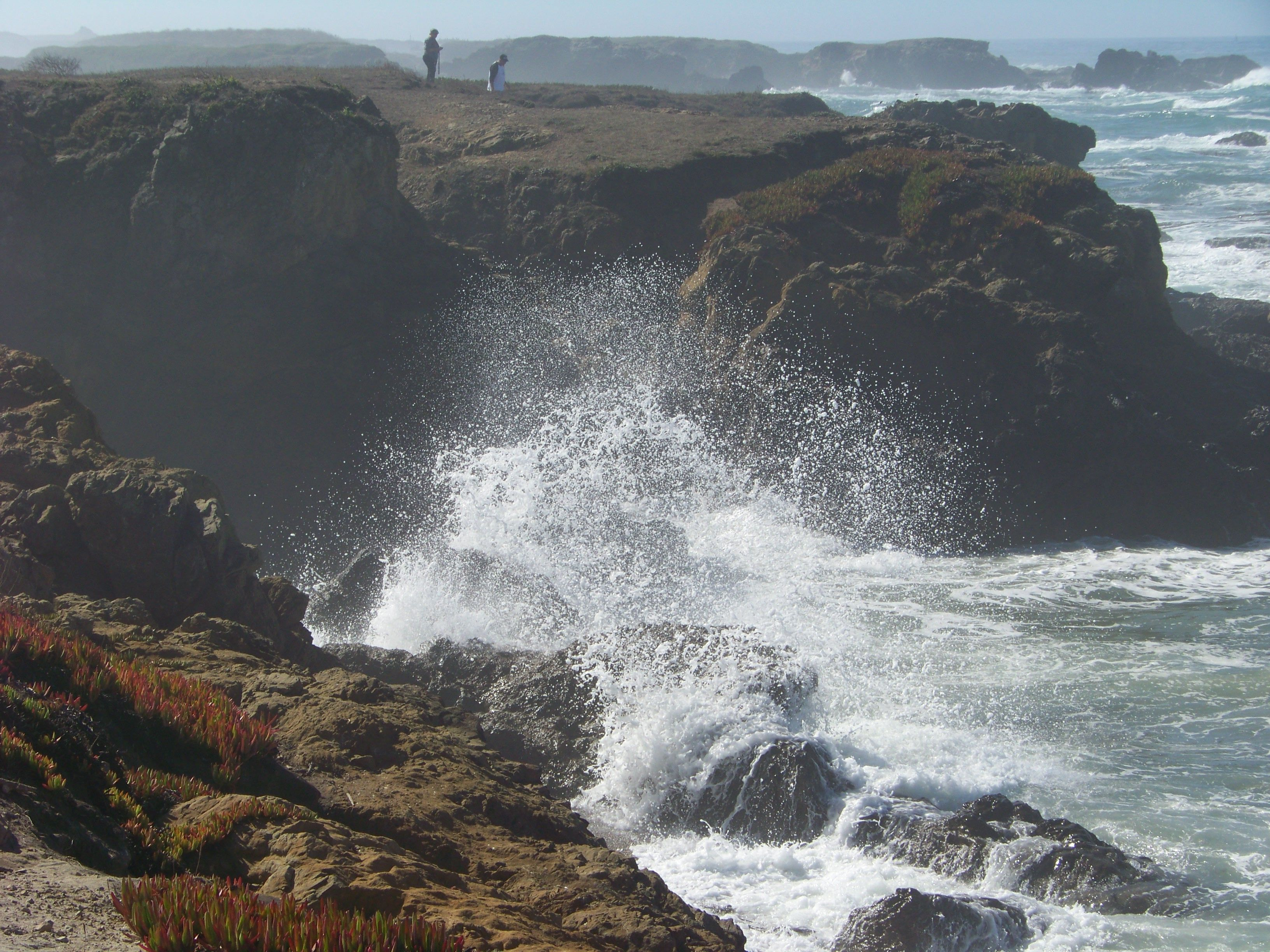 Here is a photo taken on a visit to Ft. Bragg, California, my favorite ocean getaway in the north state. This was taken in the spring of 2011. The ocean was particularly fierce that day! I love it! :)