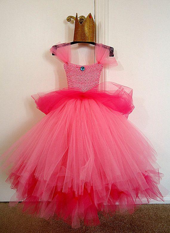 Princess Peach Tutu Dress And Crown 4 10 Girls Hmm A Bit More