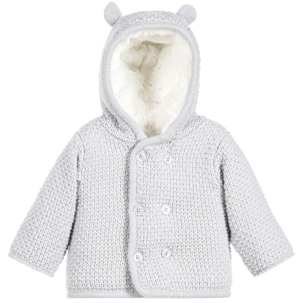 afe19799f442 Grey Knitted Pram Coat