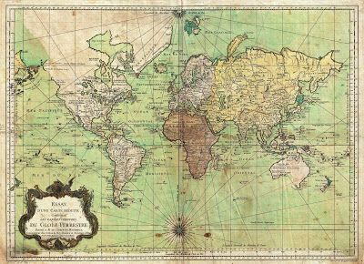 Ancient world maps world map 18th century antique andor cool nautical map of the world published by the french hydrographer and geographer j bellin in 1778 presents the entire world on a mercator projection based on gumiabroncs Image collections