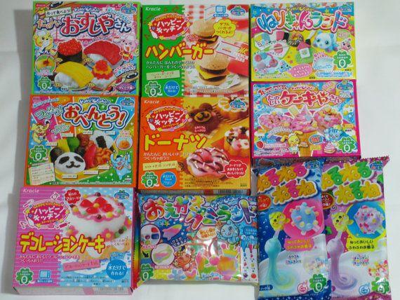 kracie 10pcs set happy kitchen popin 39 cookin 39 oekaki gummy japanese diy candy making kit popin. Black Bedroom Furniture Sets. Home Design Ideas