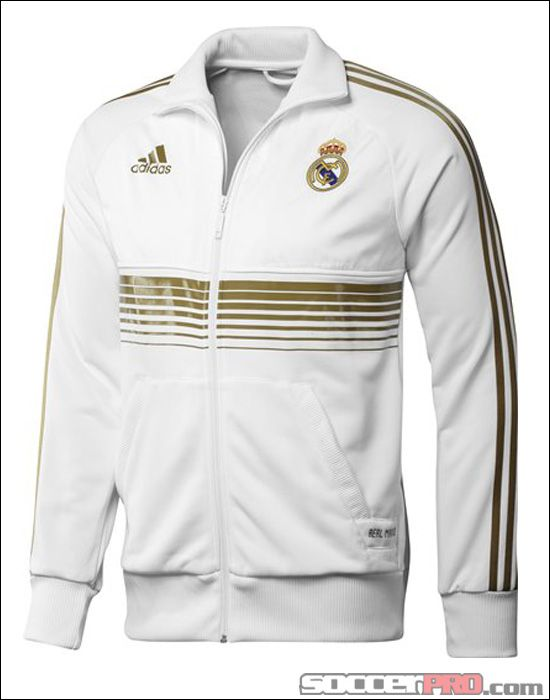 18e4148b8d adidas Real Madrid Anthem Jacket - White with Dark Gold... 62.99 ...