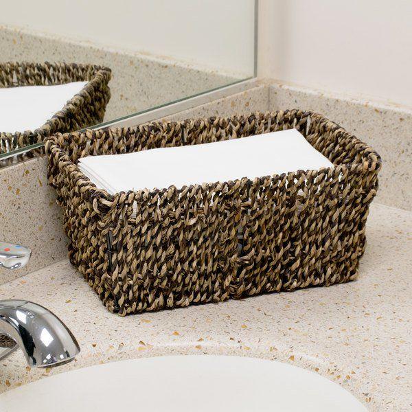 Hoffmaster BSK2151 Seagrass Wicker Guest Towel Basket / Holder #handtowels