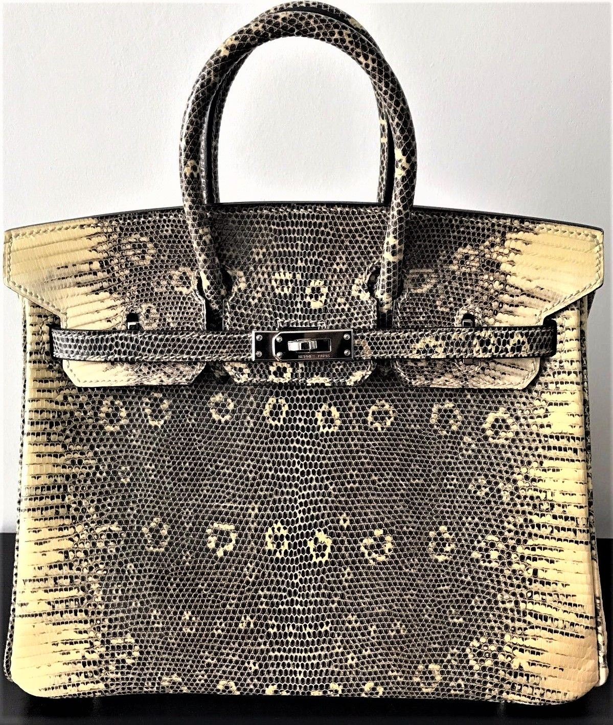 243ac40c30 Extremely rare 30cm Ombre Salvator Lizard Hermes Birkin from 2015. Sensibly  priced at 30