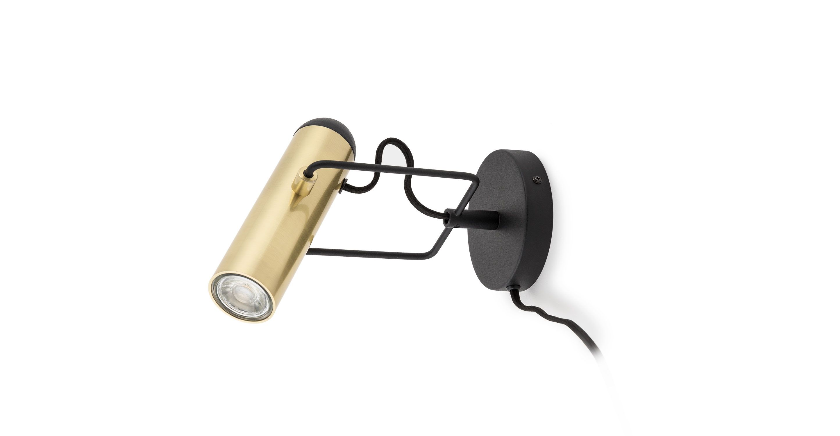 Brass Sconce Lamp With Plug In Cord
