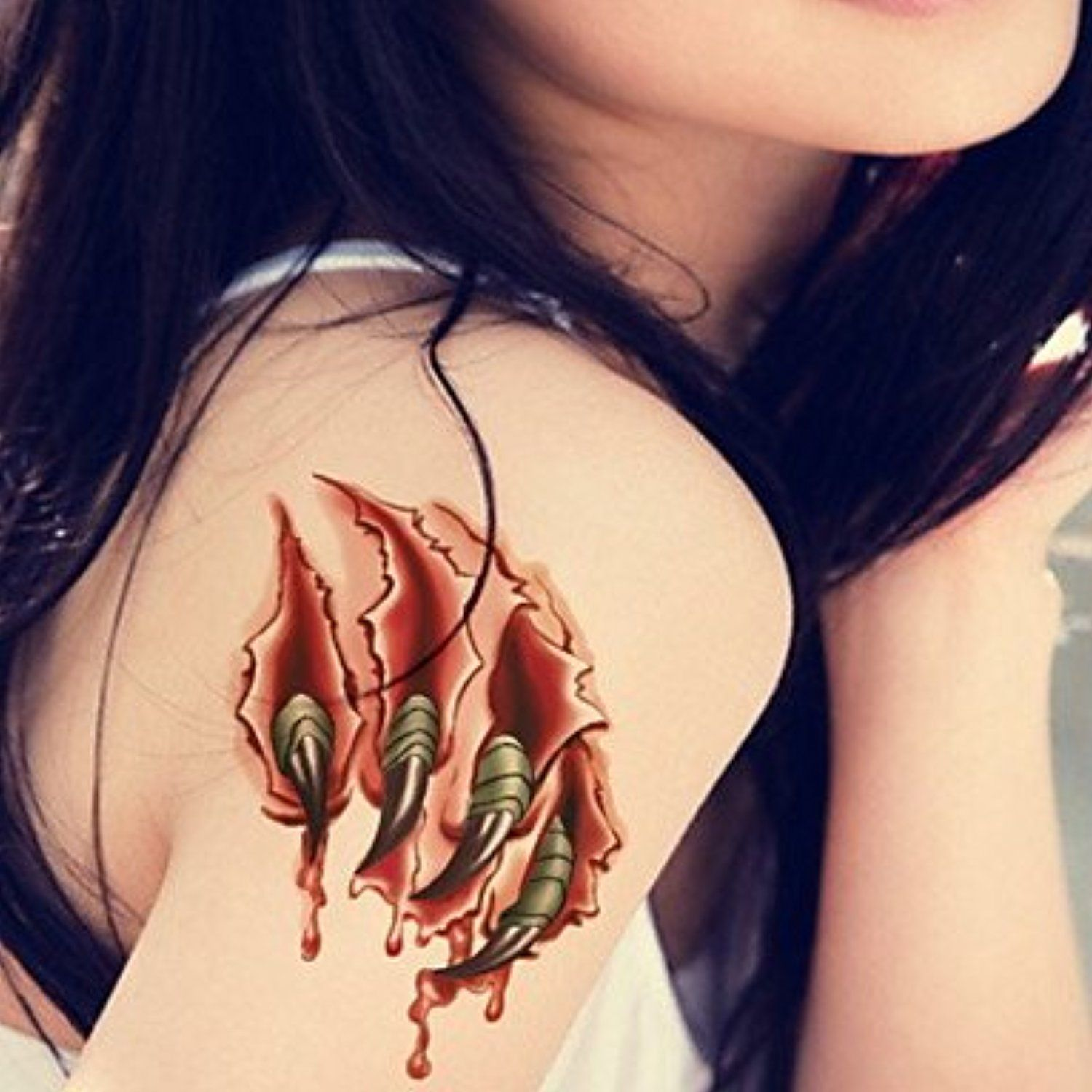 Cool tattoos for a girl alondra nail stars waterproof flower arm temporary tattoos stickers