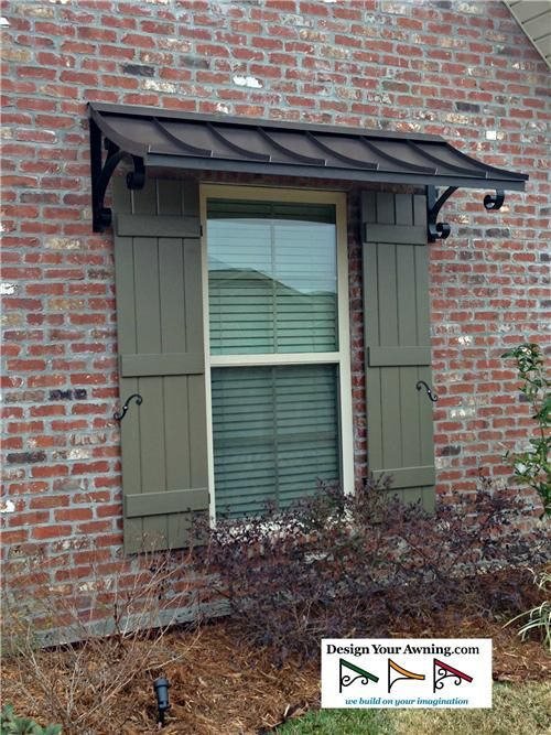 with s home the double awning awnings for pin homes bronze scroll metal