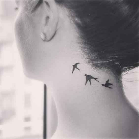 envol oiseau cou et nuque | tatouages | pinterest | tatouage