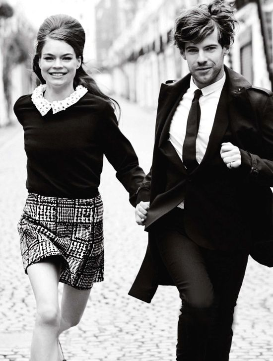 Summers coolest couple estelle yves and harry treadaway by chris craymer for uk glamour june 2013