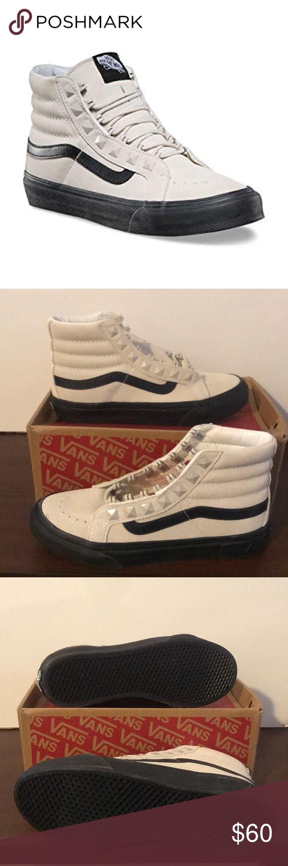 937982e49a6 Vans Sk8-Hi Slim Studs Vans Sk8-Hi Slim Studs Marshmallow Black Vans Shoes