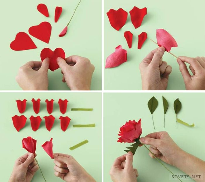 Как сделать из оригами розу