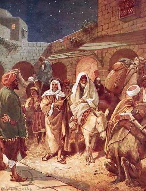 Voor Jozef en Maria is in het overvolle Bethlehem geen plaats in de herberg