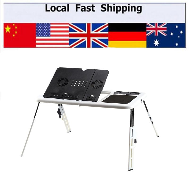 Popular Laptop Desk 360 Degree Adjustable Folding Computer Desk Table Stand Portable Bed Tray For Home O Folding Computer Desk Folding Laptop Table Laptop Desk