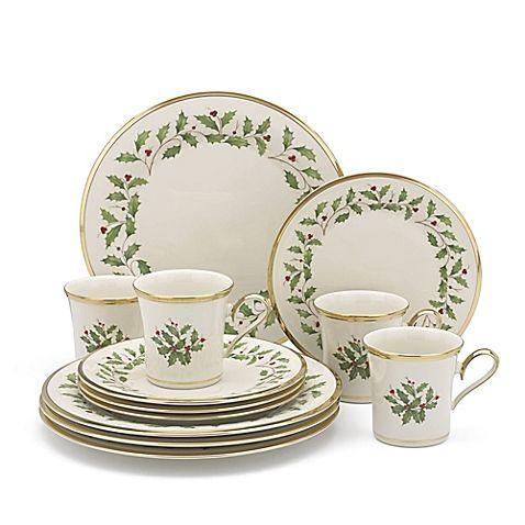 Lenox® Holiday™ 12-Piece Dinnerware Set  sc 1 st  Pinterest & Lenox® Holiday™ 12-Piece Dinnerware Set | Dinnerware Holidays and China