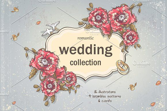 Wedding's set by Nearbirds on @creativemarket