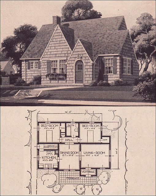 1936 Sears Wilmore Small English Cottage Vintage House