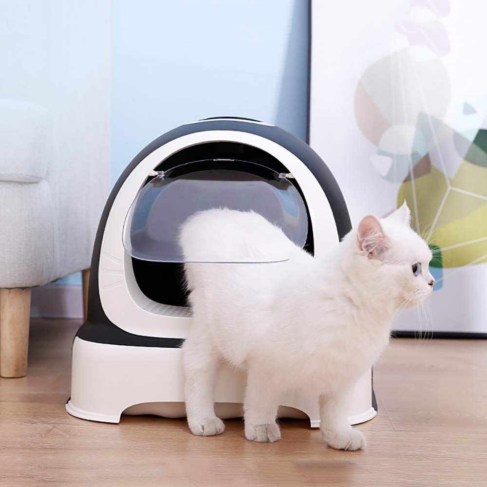 Shpehp Enclosed Litter Ergonomic Toilet In 2020 Cat Litter Box Cat Toilet Litter Box