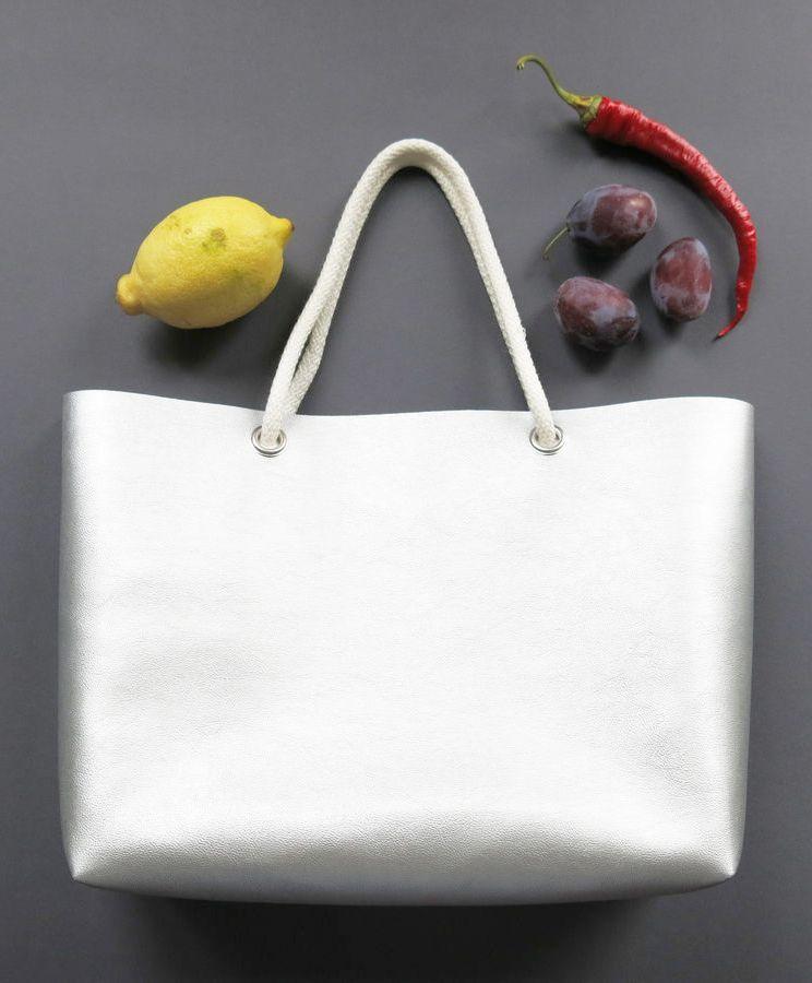 Einkaufstasche oder großer Shopper aus Kunstleder - gratis ...