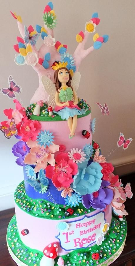 Fairy Princess And The Enchanted Forest Cake Cakes Kids